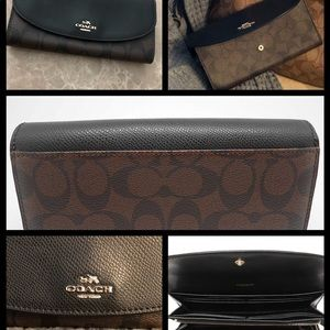 Coach Signature PVC Slim Envelope Wallet